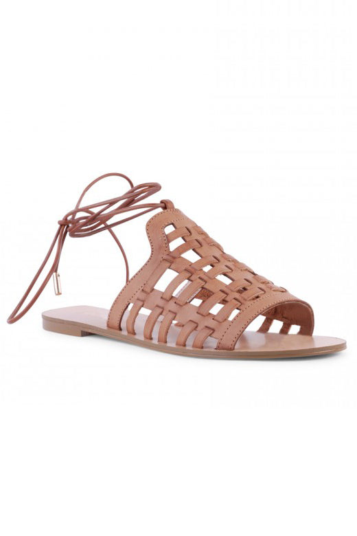 Bente Tan Sandal by Verali