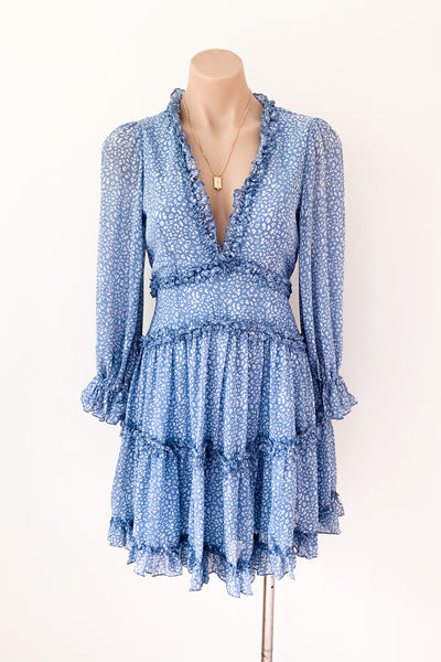 Aria Dress in Blue - HER Empire Fashion Boutique Terrigal & Online