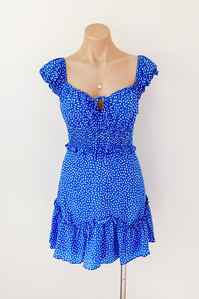 Saskia Dress in Blue for $79.00