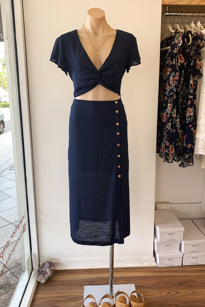 Cassidy Set in Navy for $79.95