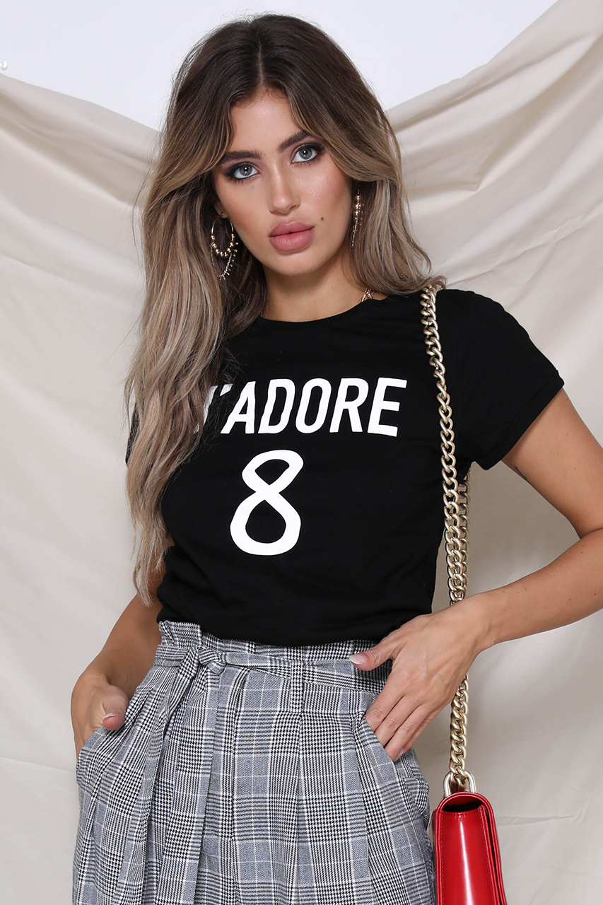 J'Adore 8 Tee - Black - HER Empire Fashion Boutique Terrigal & Online