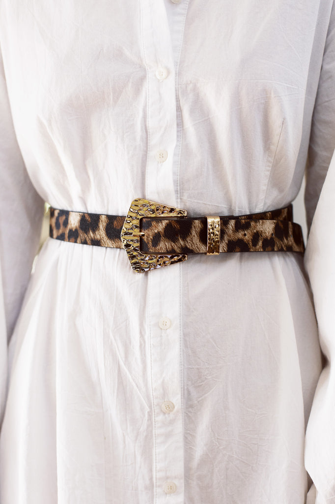 Alexis Leopard Belt for $39.95