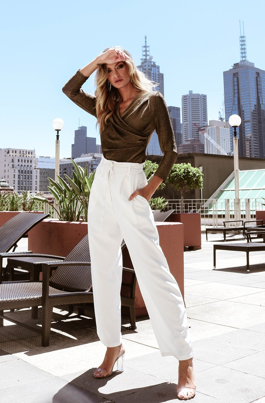 Polly Wide Leg Pant for $89.95