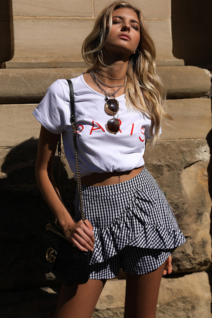 Paris Gingham Shorts