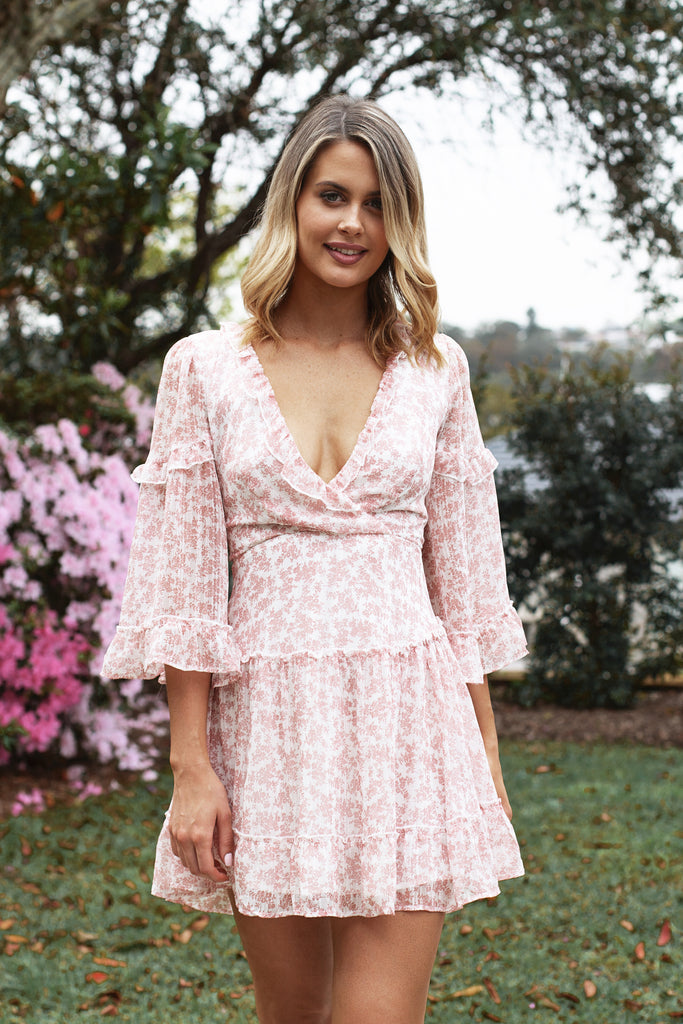 Jasmine Dress in Pink for $85.00