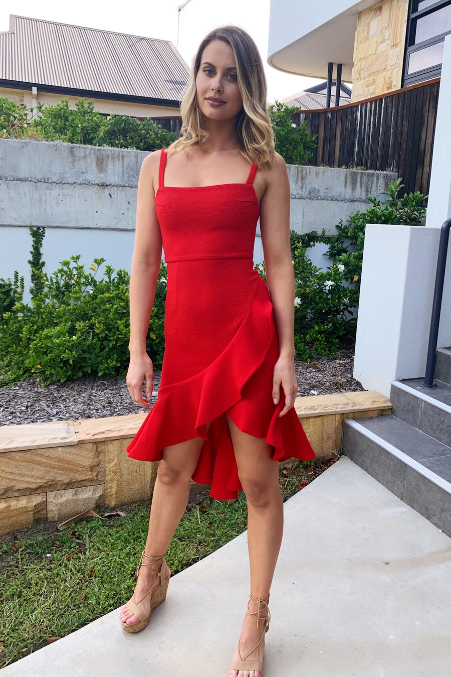 Senorita Dress in Red - HER Empire Fashion Boutique Terrigal & Online