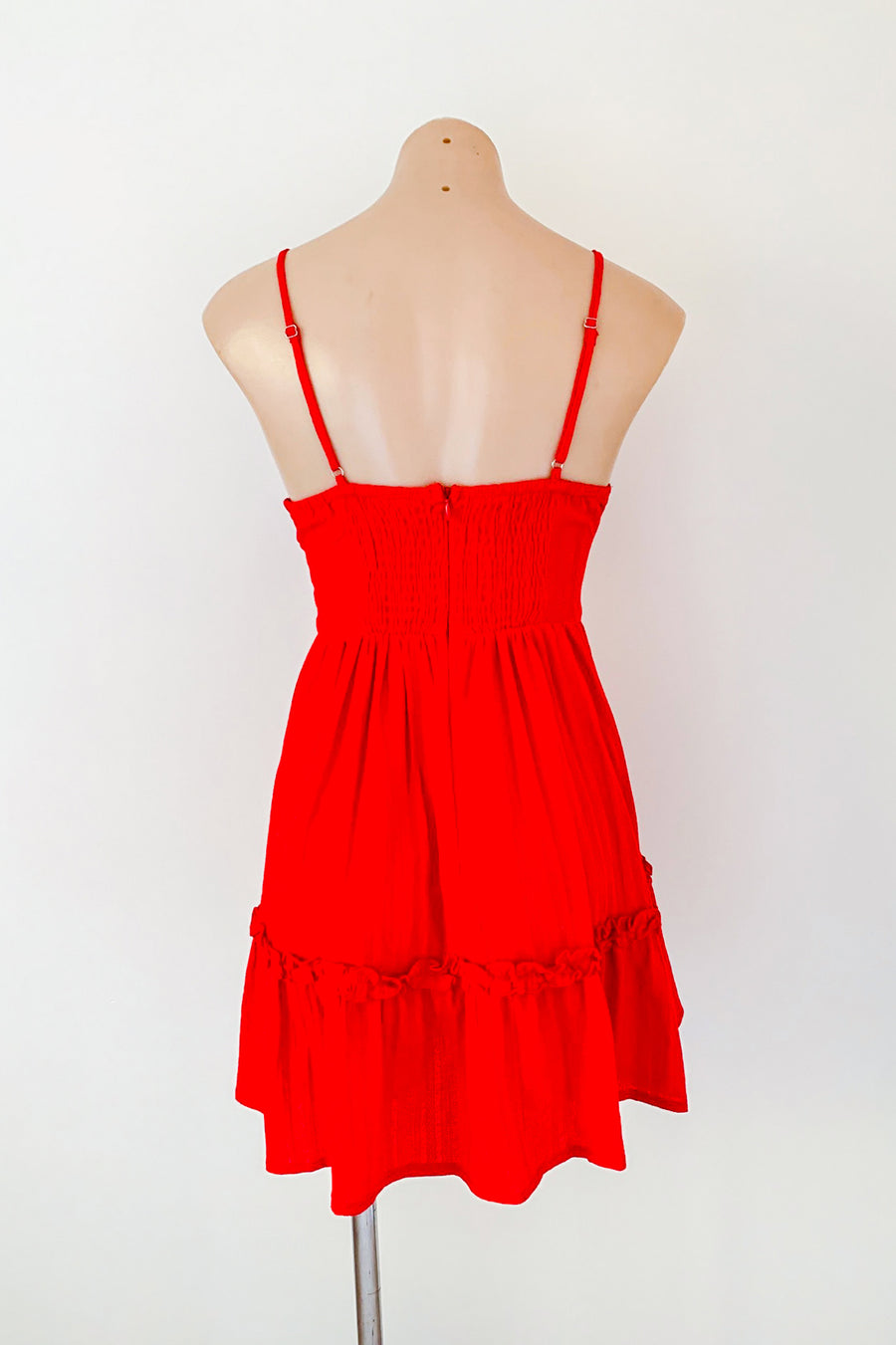 Ami Dress in Red for $75.00