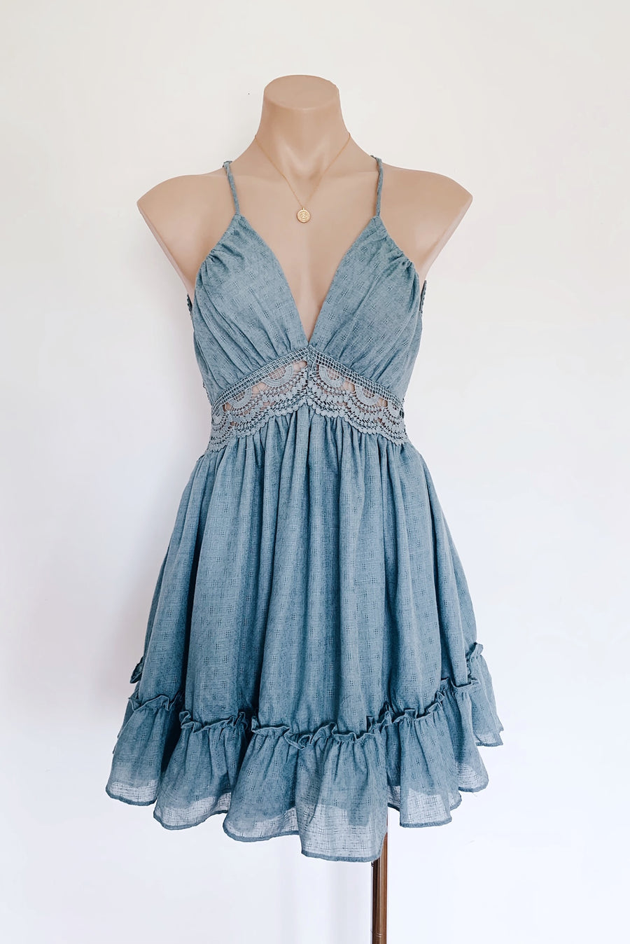 Bianca Dress in Sage for $75.00