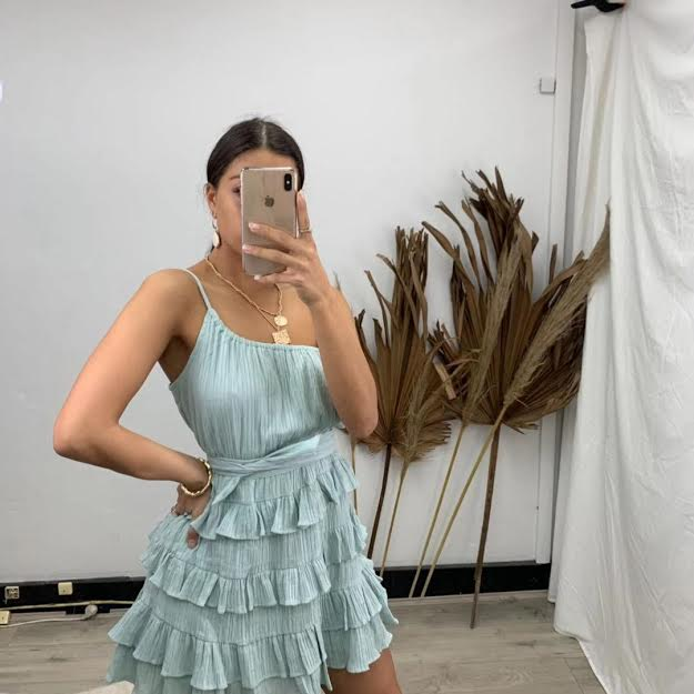 Aaliyah Dress in Sage for $69.95