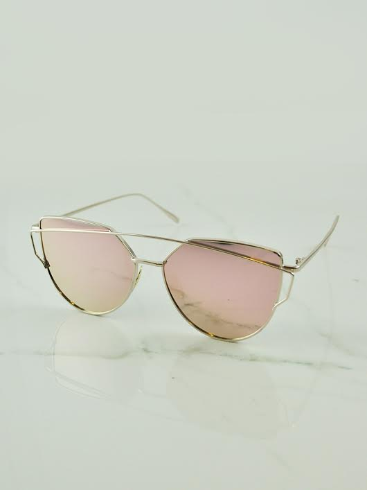 Kerilee Sunglasses in Rose Gold