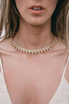 Sienna Choker in Gold - HER Empire Fashion Boutique Terrigal & Online