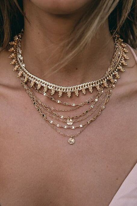 Sienna Choker in Gold