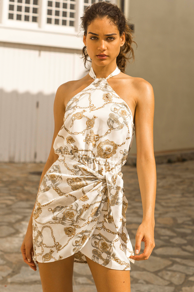 Chain Smokin' Dress in White - HER Empire Fashion Boutique Terrigal & Online