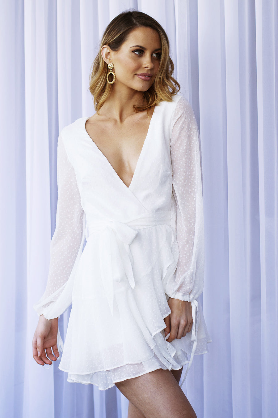 Sky high dress in White for $85.00