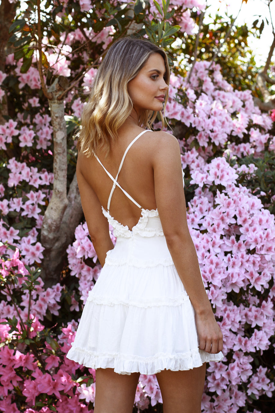 Ava Dress in White for $69.95