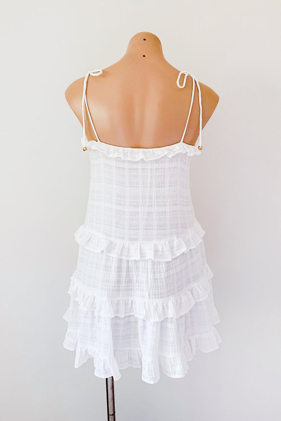 Calypso Dress in White for $75.00
