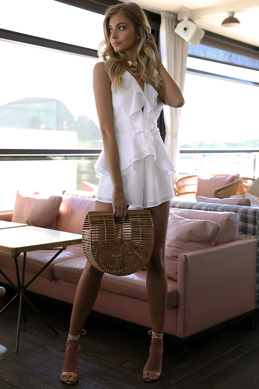 Wild Child Playsuit in White