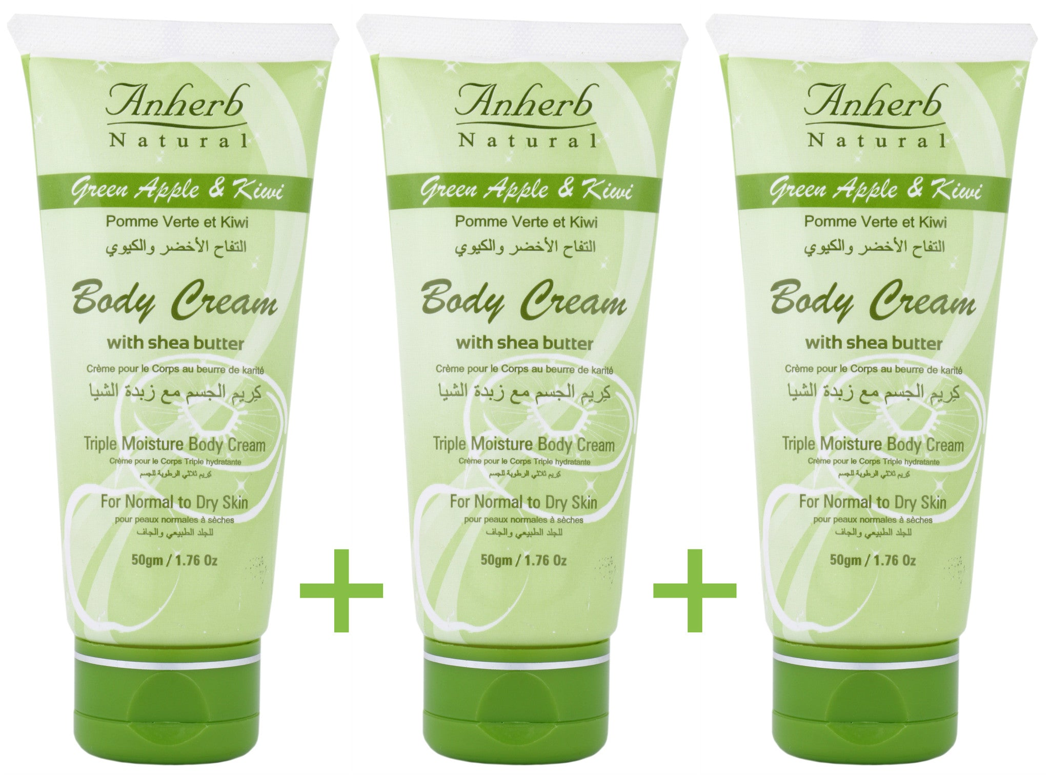 Body - Green Apple & Kiwi Body Cream - 50gm (Pack Of 3)