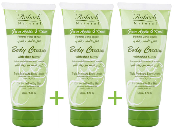 Green Apple & Kiwi Body Cream - 50gm (Pack of 3)