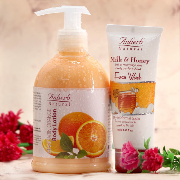 Mandarin Orange Body Lotion-300ML (FREE Milk & Honey Face Wash-50ML)
