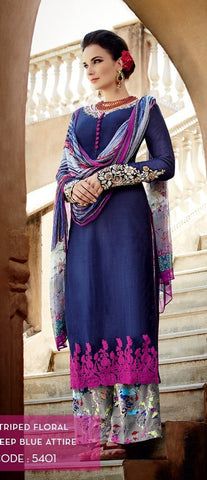heer suits Blue,Cotton satin