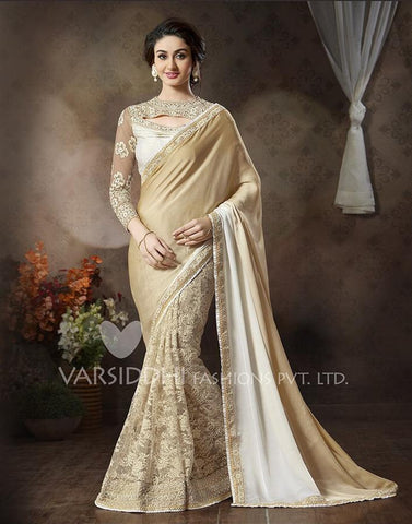 Saree Cream,Net