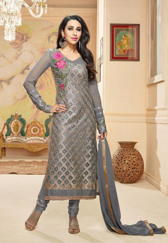 Suits Grey,Georgette