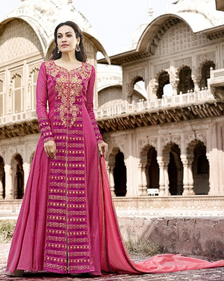 Pink Suit With Dupatta