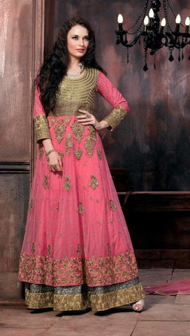 Anarkali long suits floor length frock suits heavy embroidered semi stitched suits