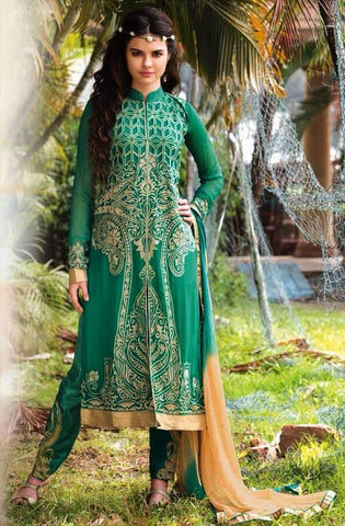 Fabric georgette with enbroidery work,bottom : shantoon,dupatta : chiffon