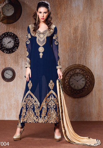 Anarkali suits Blue,Faux Georgette