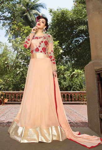 Designer heavy long floor length anarkali semi stitched suits with heavy embroidery on top