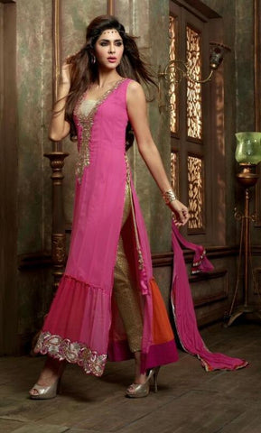 Suits Pink,Georgette , Net