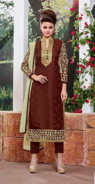 e8a76be958 Brown and Beige Salwaar Suits | Women Shop Cash On Delivery ...