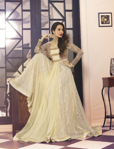 Floor length long anarkali designer embroidered work semi stitched suits