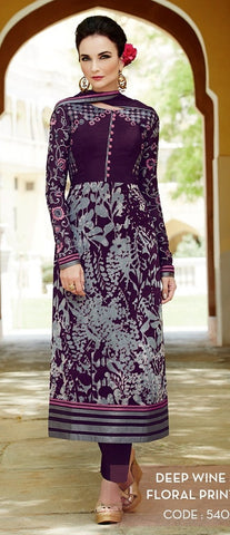 heer suits Violet,Viscose Georgette