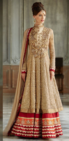 Anarkali suits Golden,Georgette