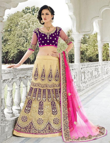 Cream,Net,Heavy bridal wedding saree with heavy embroidery blouse