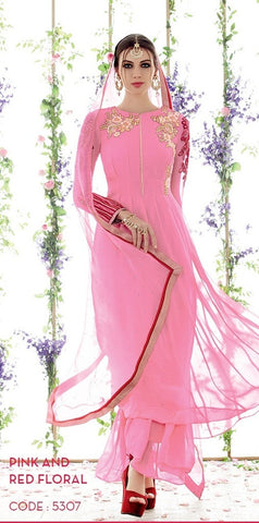 suits Pink,Pure Georgette