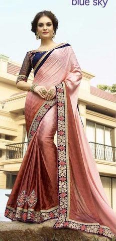 Maroon , Beige,Georgette,Buy designer georgette saree with embroidery work