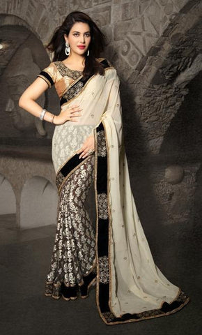 Saree Black , Grey,Brasso