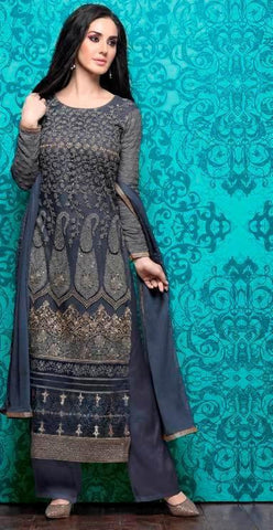 Grey,Georgette,Designer suits,suits,party wear,salwar suits,wedding ,heavy suits,vipul