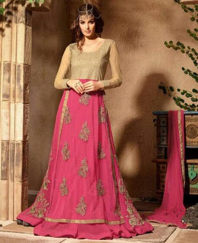 Pink,Georgette,Designer party wear suits
