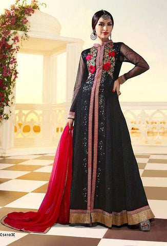 Red,Georgette,Anarkali designer heavy party wear floor length suits