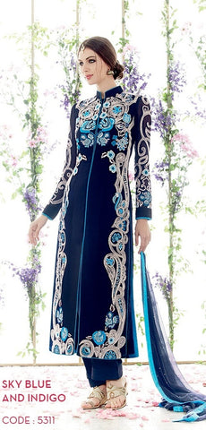 suits Blue,Pure Georgette