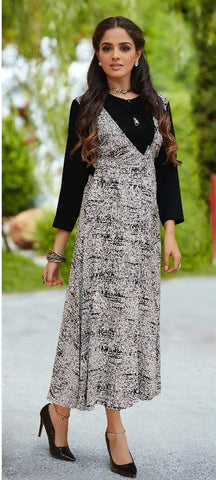 Black Party Wear Large Size Kurti