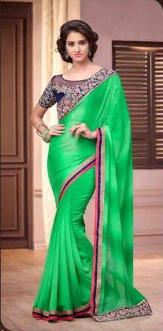 Silver screem saree 13014
