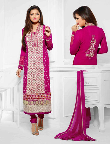 Georgette suits,dupatta chiffon,color : pink