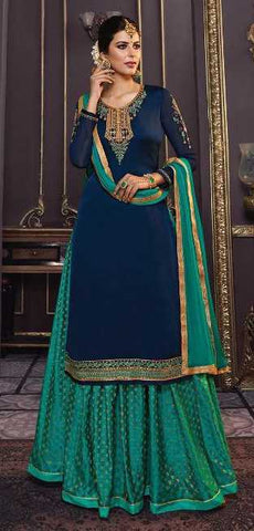 Blue Salwar Suits | Blue Anarkali Suits | Blue Sharara Suits