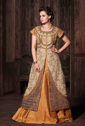 Suits Beige, Banarasi Silk